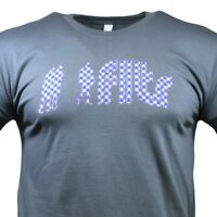 Men's T-shirt Filter Brand 100% Cotton Silhouette Pattern Tee Born in LA - Grey