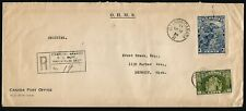 1934 Registered Cover 13c Loyalists/Cartier CDS Ottawa Ont Post Office OHMS