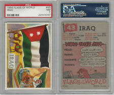 1956 Topps, Flags of the World, #43 Iraq, PSA 7 NM
