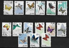 E7092  China People's Republic Butterflies used stamps set