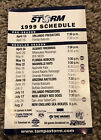 Tampa Bay Storm 1999 Arena Football Pocket Schedule - Miller Lite
