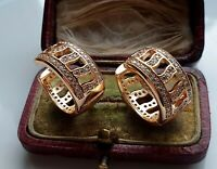 STUNNING 9ct Gold Hoop Earrings gf, BUY WITH CONFIDENCE { 0048G }