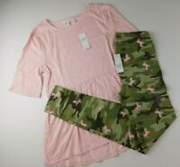 NWT GAP Girl's 2 Pc Outfit Sparkle Tunic Top Pink/Camo Leggings XXL(13) MSRP $35