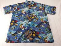 Bahamas Mens Short Sleeve Shirt Size Large With Multi Colors