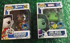 Comikaze 2016 Stan Lee Comic Con Funko Pop She-Hulk And Colossus Exclusive Set *