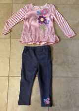 Baby Girls 24 Months Kids Headquarters 2 Piece Flower Tunic & Leggings Set