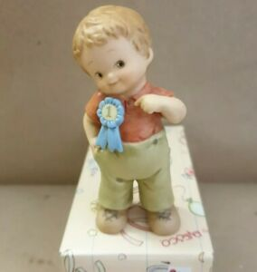 """Mabel Lucie Attwell, memories of yesterday 1995 """"Boy with congrats ribbon"""", New"""
