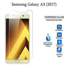 Dos protector de pantalla de vidrio templado Premium Protección Samsung Galaxy A3 (2017)