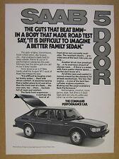 1977 Saab 99 GL 5-door car photo vintage print Ad