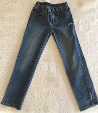 Calvin Klein Girls Straight Leg Blue Denim Jeans w/ Embroidered Pockets Size 8