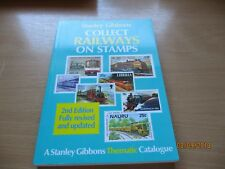 RAILWAYS  OF THE WORLD ,collect railway stamps S.GIBBONS, worldwide.  ONE OWNER