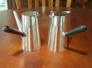 "ANTIQUE STOKES S&S SILVER PLATE COFFEE & TEA POT..""GEORGIAN""..BAKELITE  HANDLES"