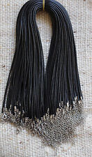 Imitation Leather Black Cord Necklaces x 10,  2mm thick, 17 inch long 2 in chain
