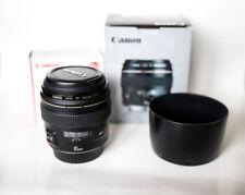 Canon EF 85 mm 1:1 .8 USM objetivamente lens + et65iii lens Hood