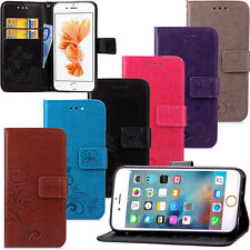 Flip Patterned PU Leather Card Pocket S lot Stand Case Cover Bumper For Appl e
