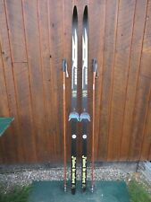 """GREAT  Cross Country 73"""" HUBER 190 cm Skis + Bamboo Poles"""