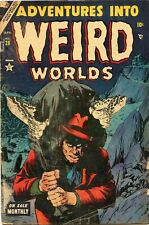 Adventures Into Weird Worlds #28 Pre Code Horror Comic Book GD 2.0 Animirth 1954