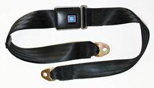 "New! Black seat belts GM logo Plastic Buckle 60"" Long Corvair Firebird Camaro"