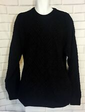 Tundra Canada Mens Sweater Black Brown Crew Neck Textured Geometric Winter XXL