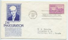 1957 FDC, DWIGHT D. EISENHOWER, INAUGURATION, ANDERSON BLUE
