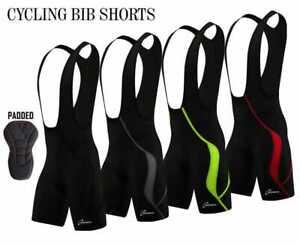 Mens Cycling Bib Shorts Cycle Compression Lycra Tights Pants Coolmax Padded New