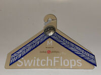 Lindsay Phillips Switch Flops Straps Heather Size M 7/8