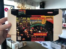 Donkey Kong Country 2 Diddy SNES DISPLAY BOX ONLY (super nintendo promo nes)