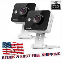 2 Pack WiFi IP Security Camera Network Home Wireless Mini HD 720p 2-Way Audio