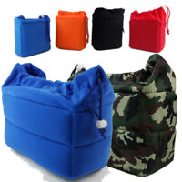 DSLR SLR Camera Handbag Insert Padded Lens Organizer Partition Case Pouch Bag