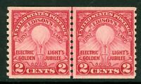 USA 1929 Edison Line Pair Scott #656 MNH I989 ⭐⭐⭐⭐⭐⭐