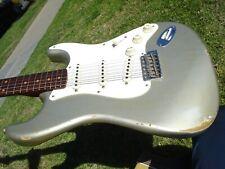 NAMM Fender Custom Shop Dual-Mag Stratocaster Relic Inca Silver Rosewood Neck