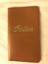 Rare! Vintage 1930s Indian Motorcycle Leather Wallet NOS! For Insurance And Regi