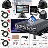720P 4CH 1*128G SD Car Vehicle DVR MDVR Video Recorder Kit CCTV Rear View Camera