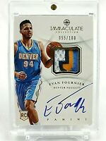 2012-13 Panini Immaculate EVAN FOURNIER Rookie RPA #/100 Nuggets 4CL Auto RC