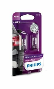 Philips Vision Plus W5W Interior Bulb 12040VPB2(Twin)