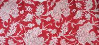Sanganeri Indian Hand Block Print 100% Pure Cotton Fabric Running 3 Yard New Red