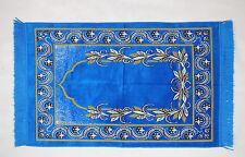 Seccade GEBETSTEPPICH 110cmx68cm Lüks Kadife Blau / Gelb 510 gramm