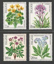 Iceland #567-570 (A188) VF MNH - 1983 7.50k to 20k Flowers