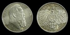 German States / Bavaria - 2 Mark 1911 D ~ 90th Birthday Prince Regent Luitpold