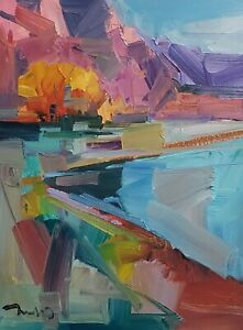 JOSE TRUJILLO Oil Painting IMPRESSIONISM Landscape CONTEMPORARY 12X16 SIGNED