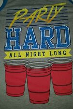 Tank top muscle shirts for men party hard all night long red cup
