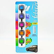 5-Pack FEBREZE Car Vent Clips Air Freshener ~ Bonus Storage Case~ 10mL (5 x 2mL)