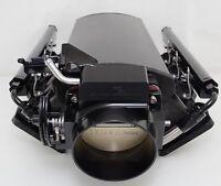 LS1 LOW PROFILE MANIFOLD ALUMINUM W/FUEL RAILS 102mm Throttle Body BLACK