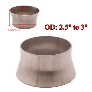 """OD 2.5"""" to 3"""" Stainless Steel Tubing Transition Adapter Reducer Pipe Universal"""