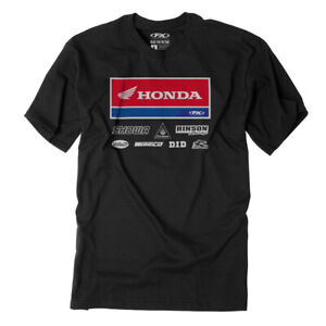 Factory Effex Men's Honda Racewear T-Shirt Black All Sizes