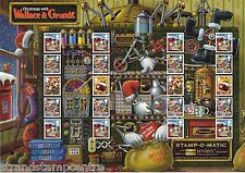GS-077 - Christmas With Wallace & Gromit Generic Smilers Stamp Sheet