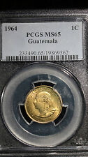 1964 Guatemala 1 Cent PCGS MS 65