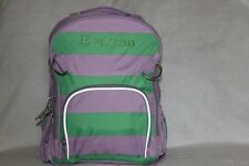 "PotteryBarn Girls Stripe Green Lavender Small Backpack FREE PencilCase ""Evelynn"""