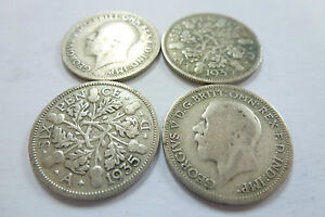 King George V Sixpence 1918,1920,1921,1922,1923,1927, 1929-select your year/coin