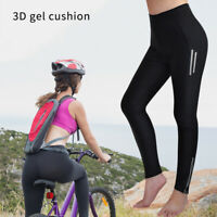 Women's Cycling Pants 3D Gel Padded Trousers Tights for MTB Bike Breathable